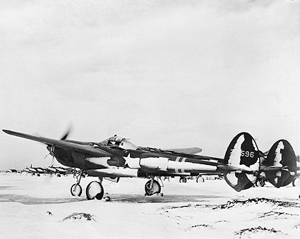 WWII Lockheed P-38 Aircraft in Iceland Photo Print