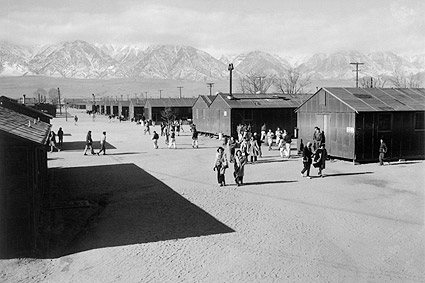 WWII Manzanar High School, Ansel Adams Photo Print