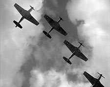 WWII P-51 Mustangs Flying in Formation Photo Print for Sale