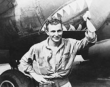 WWII Soldier in New Guinea with Plane 1943 Photo Print for Sale