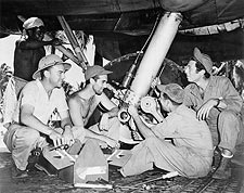 WWII Soldiers & B-17 Aircraft 1942 Photo Print for Sale