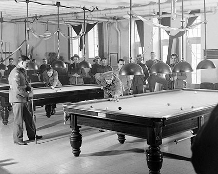 WWII Soldiers Playing Pool YMCA Jerusalem Photo Print