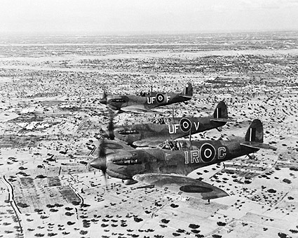 WWII Spitfire Aircraft in North Africa 1943 Photo Print