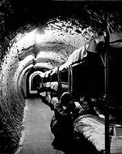 WWII Subway Tunnel Shelter, 1940s England Photo Print for Sale