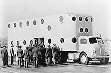 WWII Troop Transport Tractor Trailer 1943 Photo Print for Sale