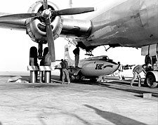 X-1E Loaded in B-29 Mothership X-1 Photo Print for Sale