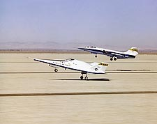 X-24 Landing w/ F-104 Chase Plane Photo Print for Sale
