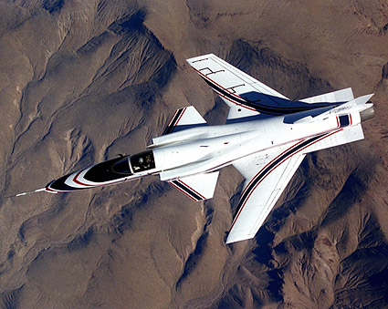 X-29 in Flight from above Photo Print
