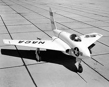 X-4 Bantam Research Aircraft on Ramp NASA Photo Print