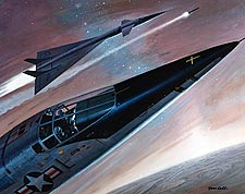 XB-70 Aircraft in Flight Painting Photo Print for Sale
