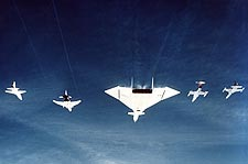 XB-70 / XB-70A Formation w/ Fighter Jet Photo Print for Sale