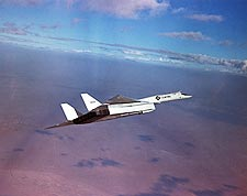XB-70 / XB-70A Valkyrie Banking in Flight Photo Print for Sale