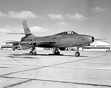 XF-91 Thunderceptor on Ramp Photo Print for Sale