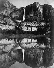Yosemite Falls Merced River Reflection 1906 Photo Print for Sale