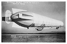 Zeppelin Blimp / Airship Takeoff 1908 Photo Print for Sale