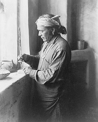 Zuni Indian Bead Worker Edward S. Curtis Photo Print