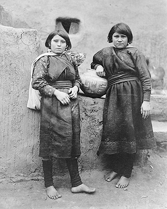 Zuni Indian Girls Pueblos Edward S. Curtis Photo Print