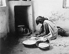 Zuni Indian Making Bread Edward S. Curtis Photo Print for Sale