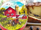 Signature Coffee Cakes in a Red Barn Gift Tin