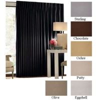 """120"""" Tall CCF Blackout Fabric Curtains, 6 colors, 19 standard widths"""