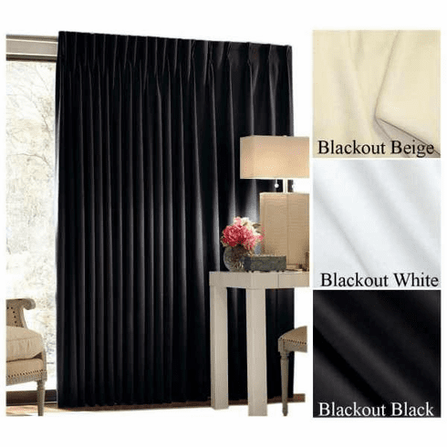 "132"" Tall by 180"" Wide Quick Ship Commercial Blackout Curtain, Choose Color"