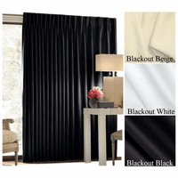 "132"" Tall CCF Blackout Fabric Quick-Ship Curtains, 3 colors, 19 standard widths"