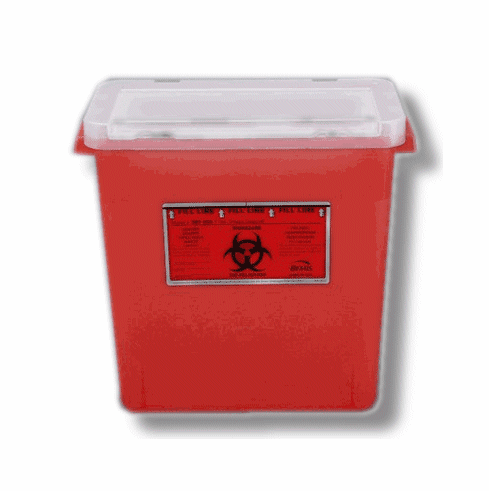 3 Gallon Sharps Container, Case of 12, by Bemis