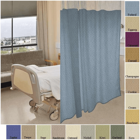 72 tall by 342 wide allegro pattern hospital curtain cubicle curtain choose mesh top or. Black Bedroom Furniture Sets. Home Design Ideas