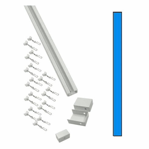 "94"" Straight Hospital Cubicle Curtain Track Kit"