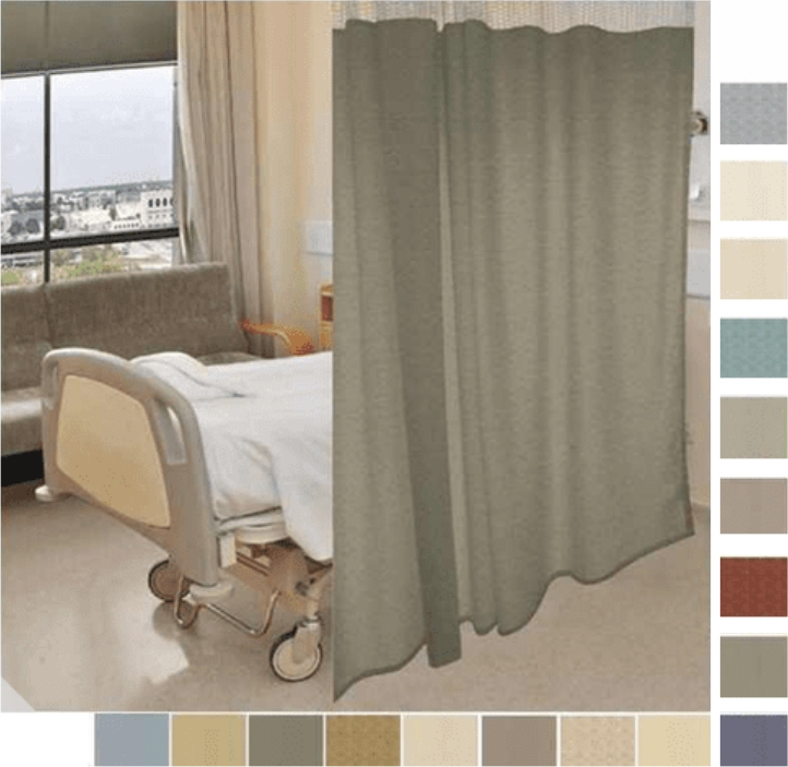 96 Tall By 198 Wide Sundance Pattern Hospital Curtain Cubicle Curtain Choose Mesh Top Or Solid