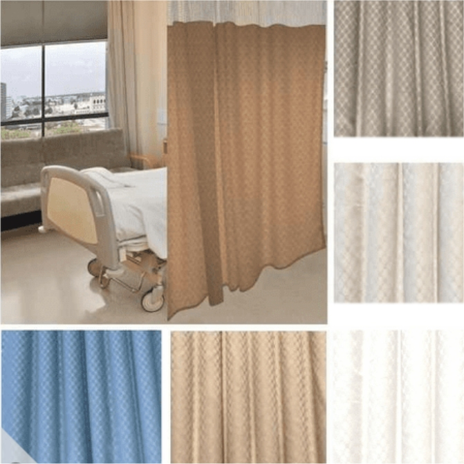 96 Tall By 396 Wide Quick Ship Cocomo Pattern Hospital Curtain Cubicle Curtain Choose Mesh Top