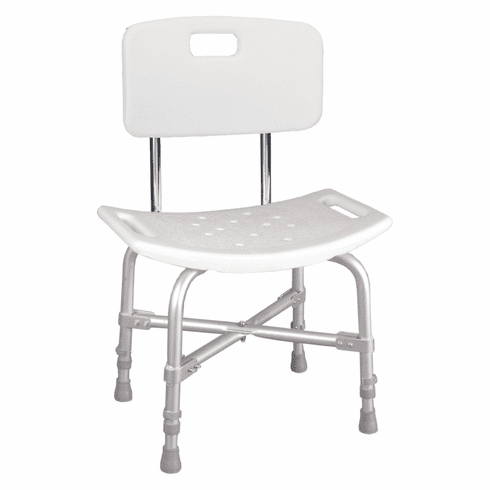Deluxe Heavy Duty Shower Stool with Back, 500 lbs. capacity by Drive
