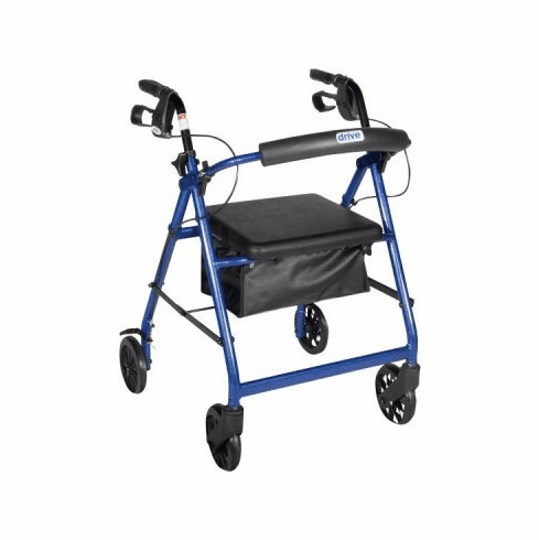 """Drive Aluminum Rollator, 8"""" Casters Fold-up Removable Back Padded Seat"""