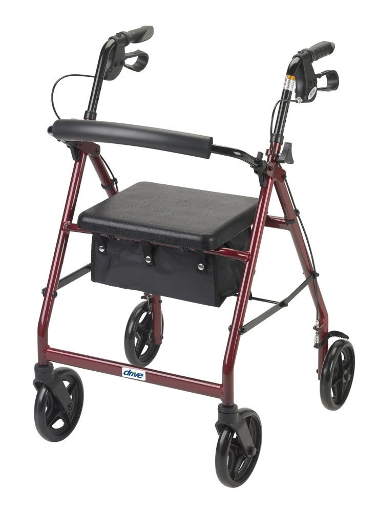 Drive Aluminum Rollator 8 Quot Casters Fold Up Removable Back