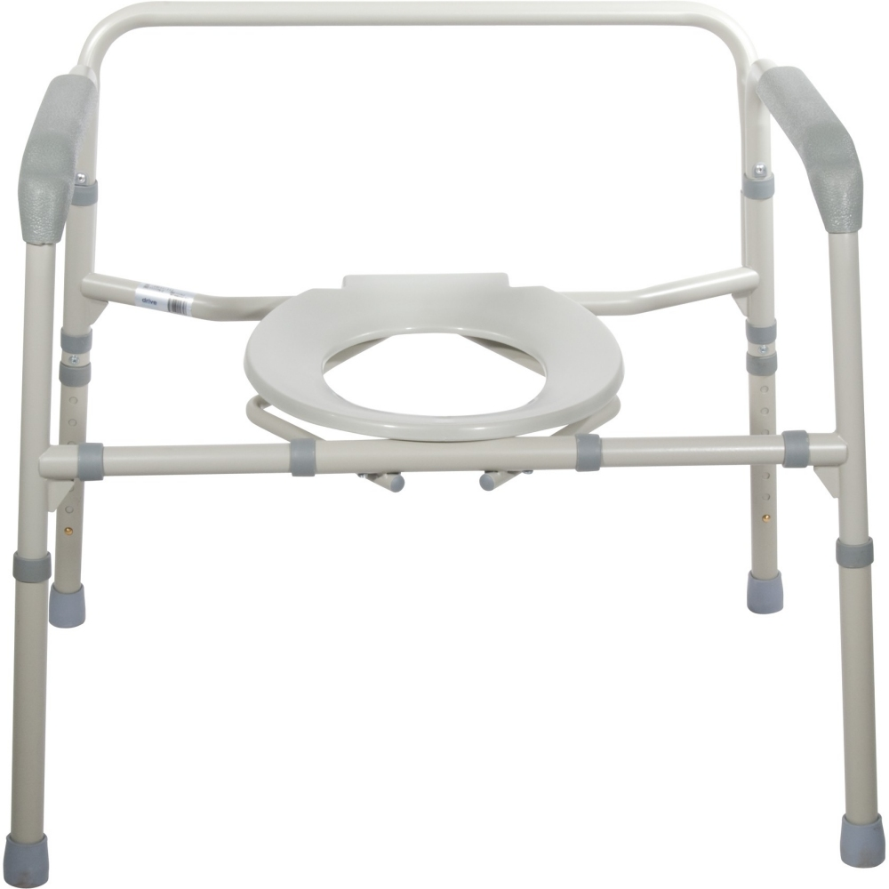 Drive Bariatric Folding Commode W Pail 650 Lbs Capacity