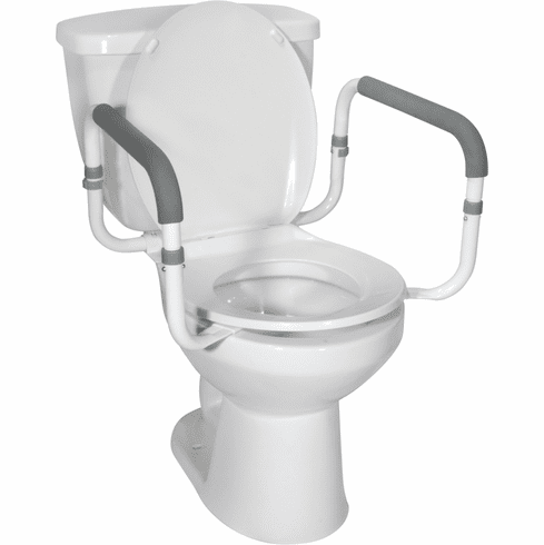 Drive Bowl Mount Tool-less Toilet Safety Rails
