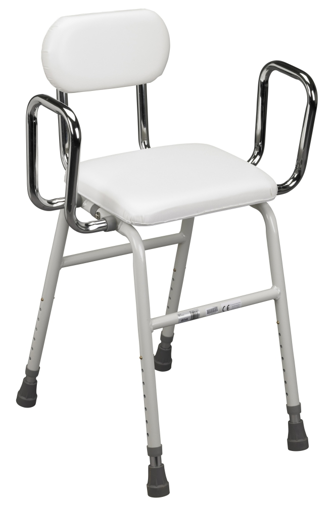 Drive Deluxe All-Purpose Kitchen Stool with Adjustable Arms