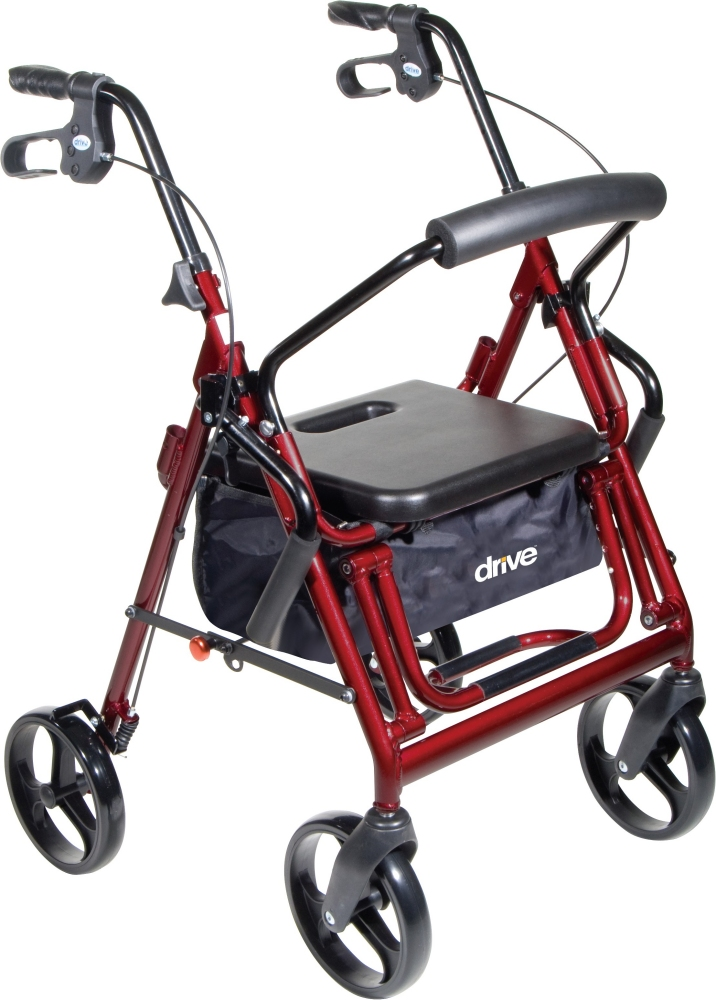 Drive Duet Rollator Transport Chair Combo 8 Quot Casters