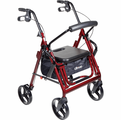 "Drive Duet Rollator / Transport Chair Combo, 8"" Casters, Choose Color"