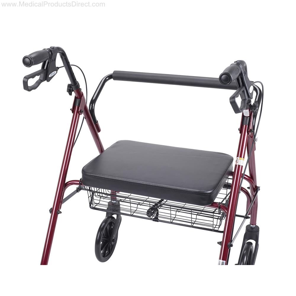 Drive Heavy Duty Bariatric Walker Rollator With Large