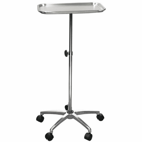 "Drive Mayo Instrument Stand with Mobile 5"" Caster Base"