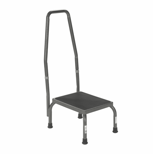 Drive Medical Foot Stool with Hand Safety Rail 300 lbs Capacity