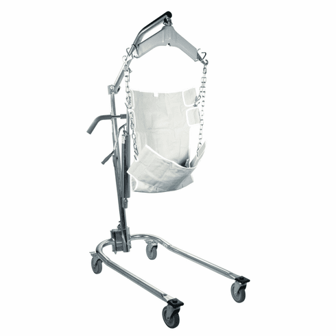 Drive Medical, Hydraulic Patient Lift w/Six Point Cradle Chrome Plated