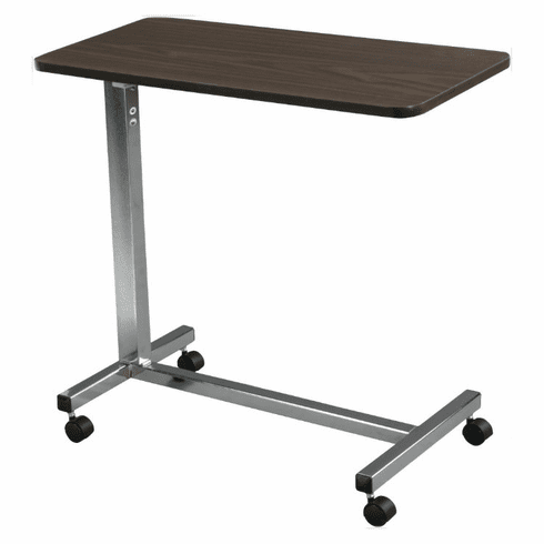 Drive Medical Non-Tilting Overbed Table with Silver Vein Finish