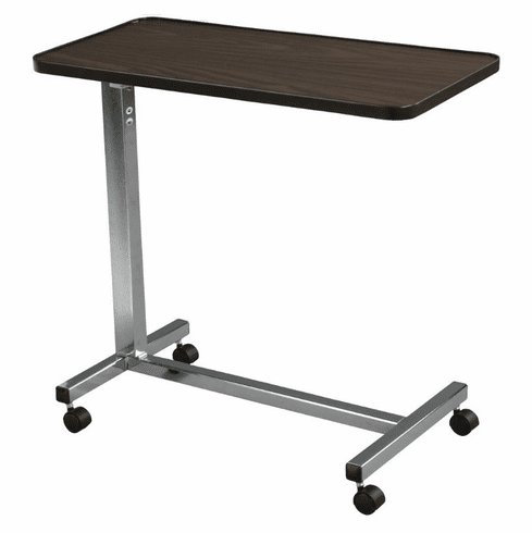 Drive Non Tilt Top Overbed Table, Chrome