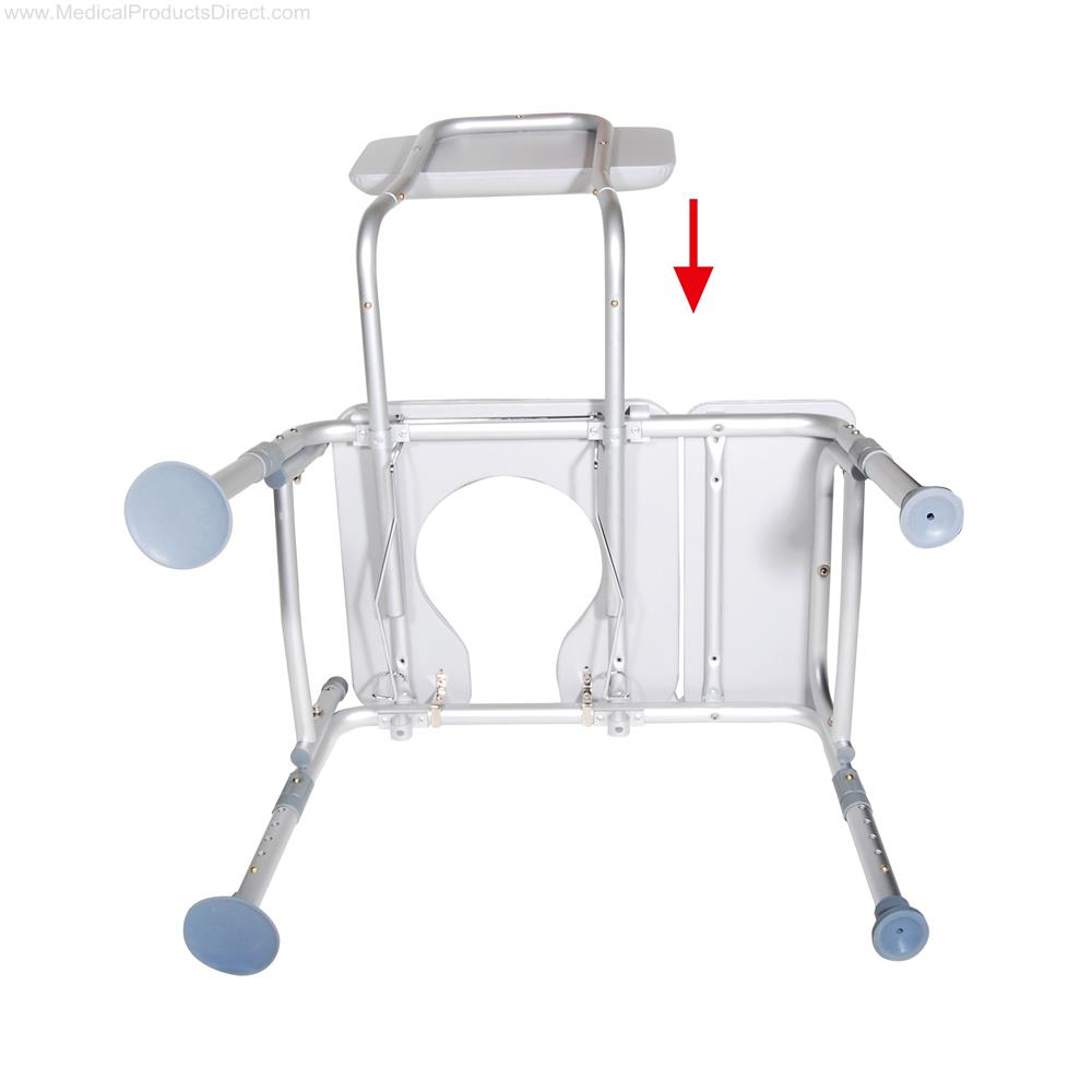 Drive Padded Seat Transfer Bench With Commode Opening