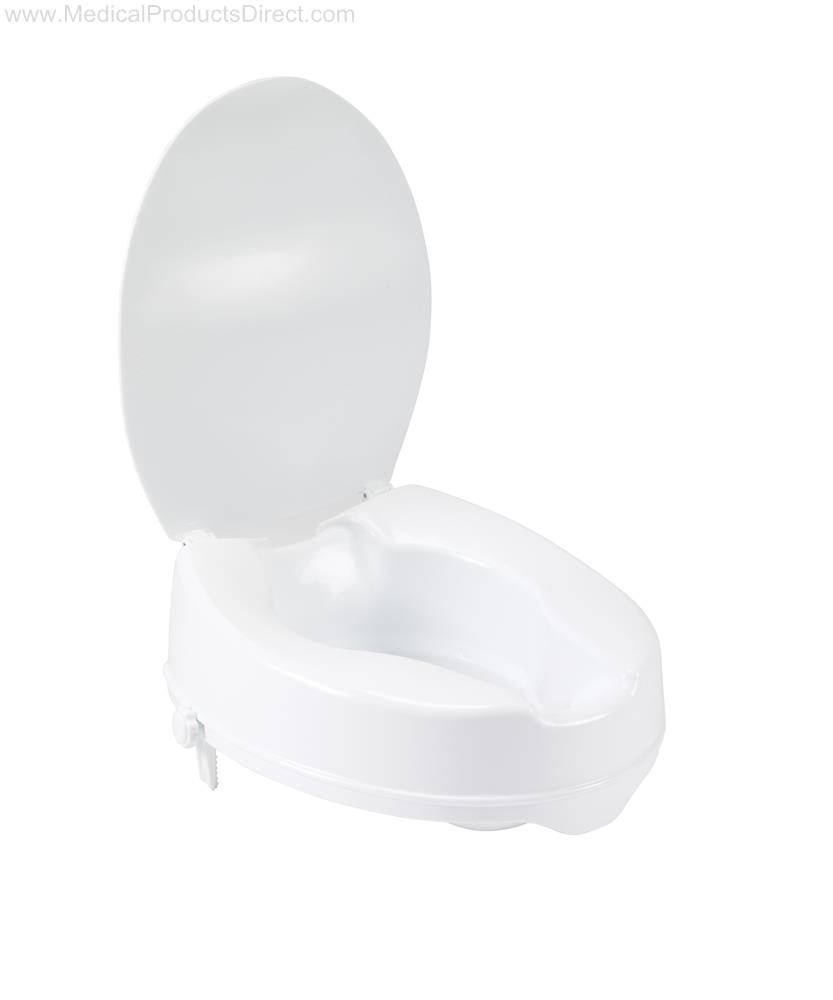 Drive Raised Toilet Seat With Lock And Lid 4 Quot Round Bowl
