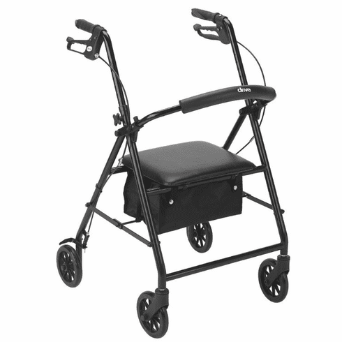 "Drive Rollator with 6"" Wheels, Black"