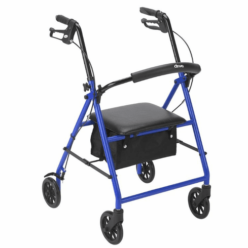 "Drive Rollator with 6"" Wheels, Blue"