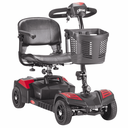 Drive Scout Compact Travel Power Scooter, 4 Wheel, Extended Battery